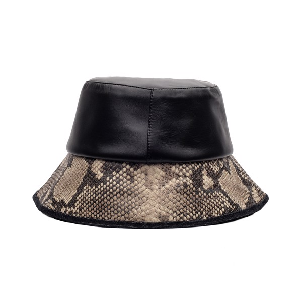THEWOLF BUCKET HAT - BLACK PYTHON