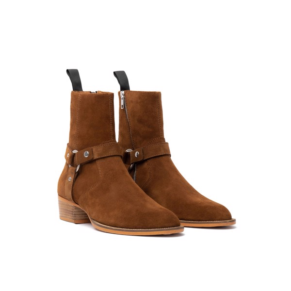 THE ALPHA WOLF HARNESS BOOT - TOBACCO