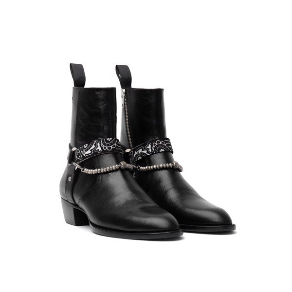 THE ALPHA WOLF HARNESS BOOT - BLACK BANDANA