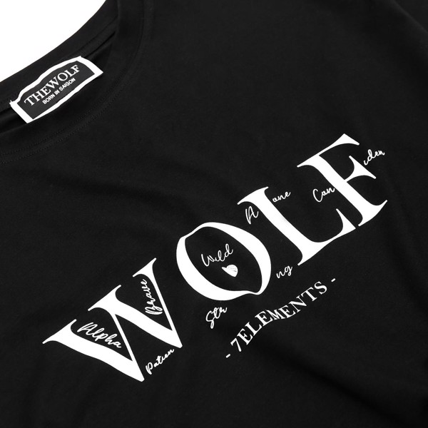 THE WOLF SEVEN ELEMENTS TEE - BLACK