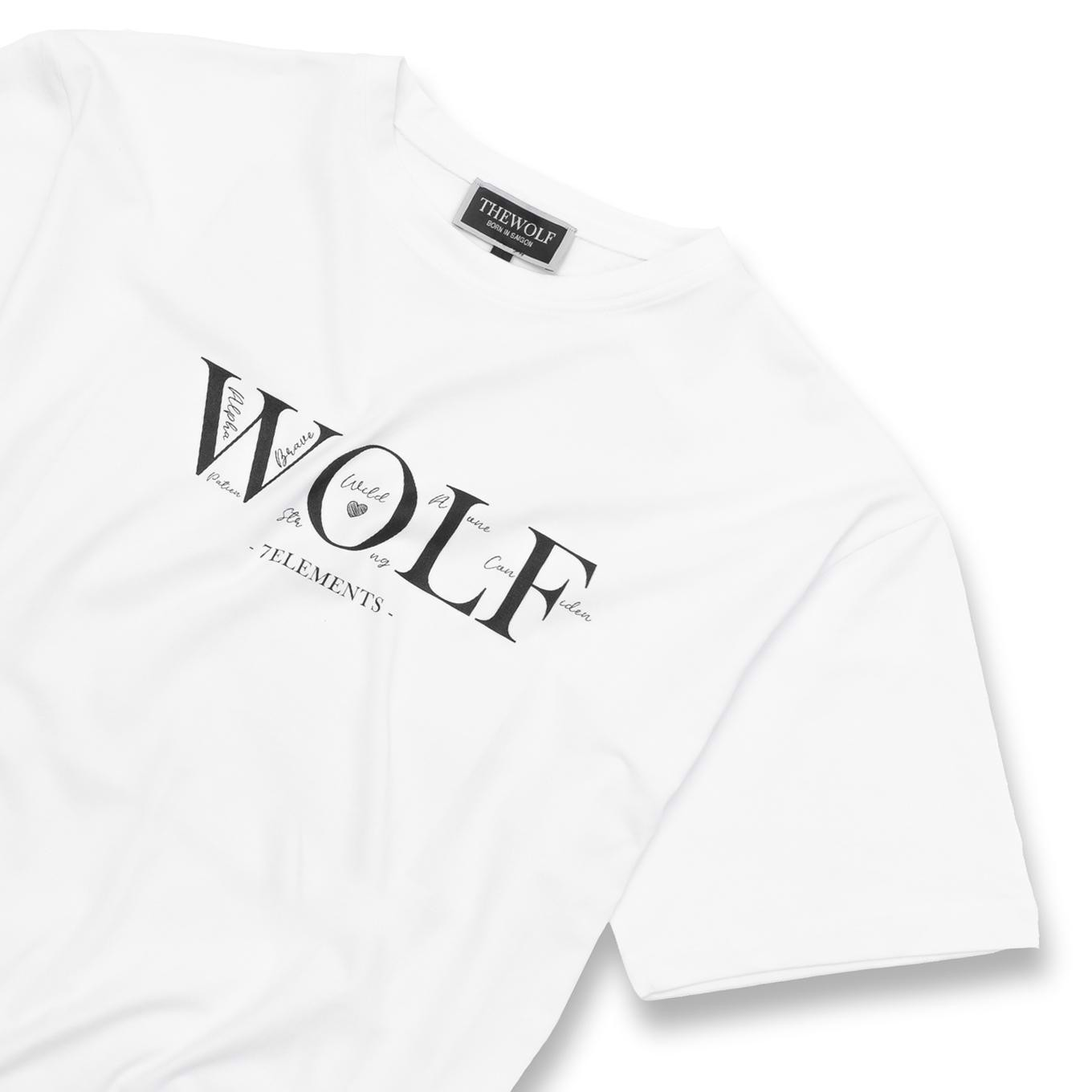 THE WOLF SEVEN ELEMENTS TEE - WHITE