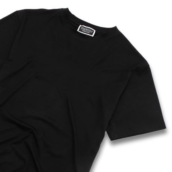 THE WOLF BASIC TEE - BLACK