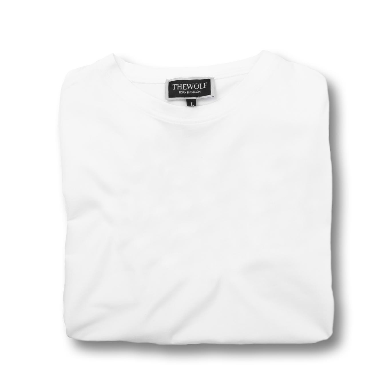 THE WOLF BASIC TEE - WHITE