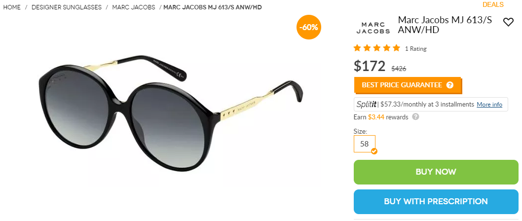 Marc Jacobs MJ613S ANW