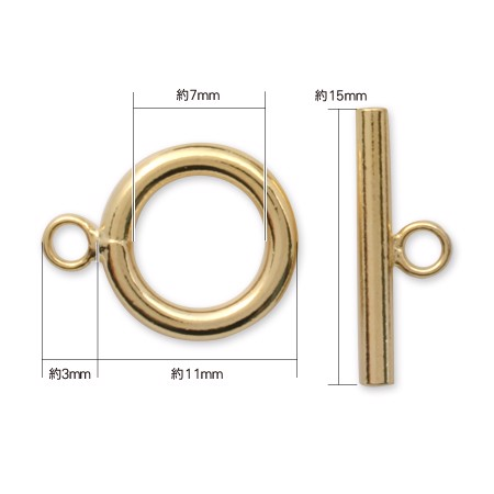 Khóa tròn toggle Gold 14mm