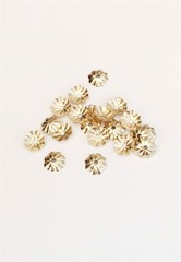 Gold Filled 4mm Fluted Bead Cap