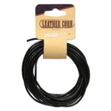 Leather Cord Black 5Yd 2mm