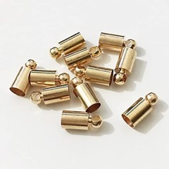 Gold Filled 8X3Mm Round Crimp End