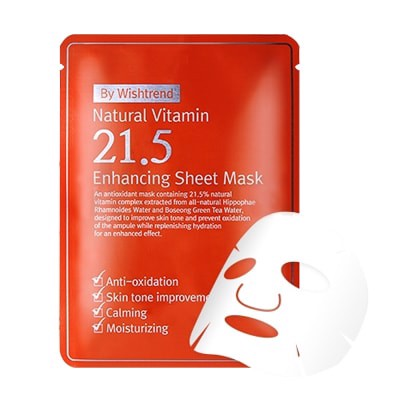 Mặt Nạ By Wishtrend Natural Vitamin 21.5 Enhancing Sheet Mask