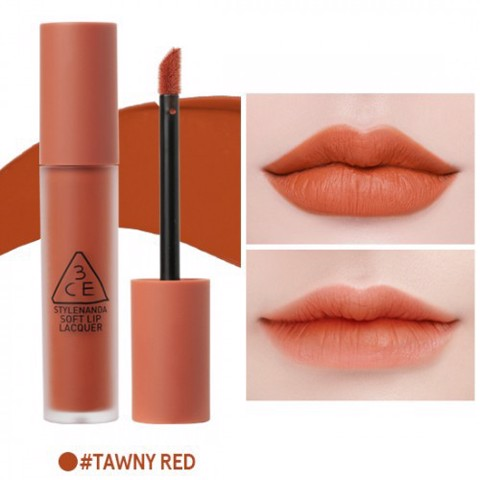 Son Kèm Lì 3CE Soft Up Lacquer #Tanwy Red
