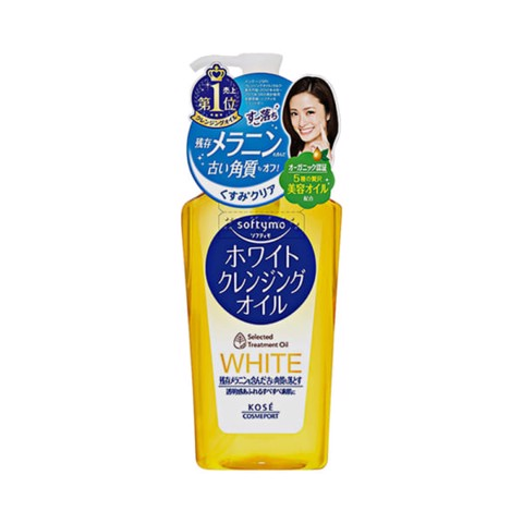 Dầu Tẩy Trang Kose Softymo White Cleansing Oil 230ml