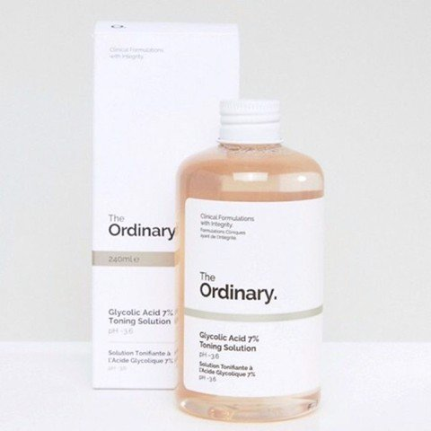 Toner Trị Mụn - Thâm, Sáng Da, Se Lcl The Ordinary Glycolic Acid 7% Toning Solution 240ml