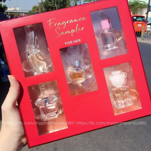 Set 5 Chai Nước Hoa Victoria's Secret Fragance Sampler For Her