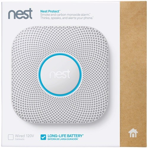 Google Nest Protect Smoke + Carbon Monoxide Alarm, 2nd Gen, Battery