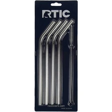 RTIC Stainless Steel Straws - 4 Pack - hộp 4 ống hút thép