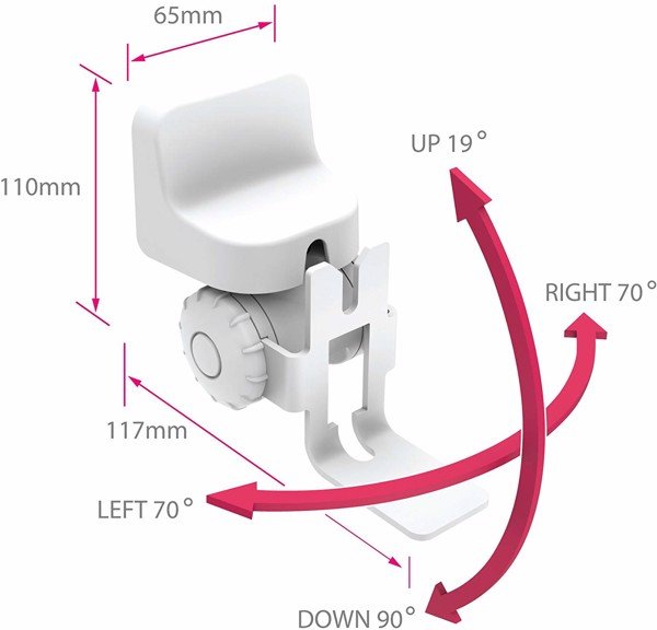 Alphason Tilt and Swivel Wall Bracket Mount for Sonos One / SL