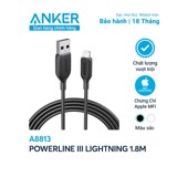 Cáp Anker PowerLine III Lightning , 1.8m - A8813