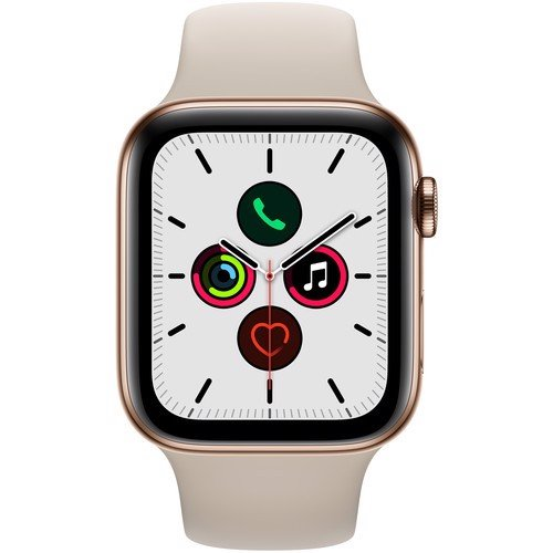Apple Watch Series 5 44mm Gold Stainless Steel Case with Stone Sport Band