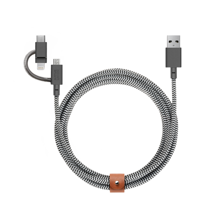 Dây cáp Native Union Belt University 3in1 - Micro-USB, Lightning, and USB-C