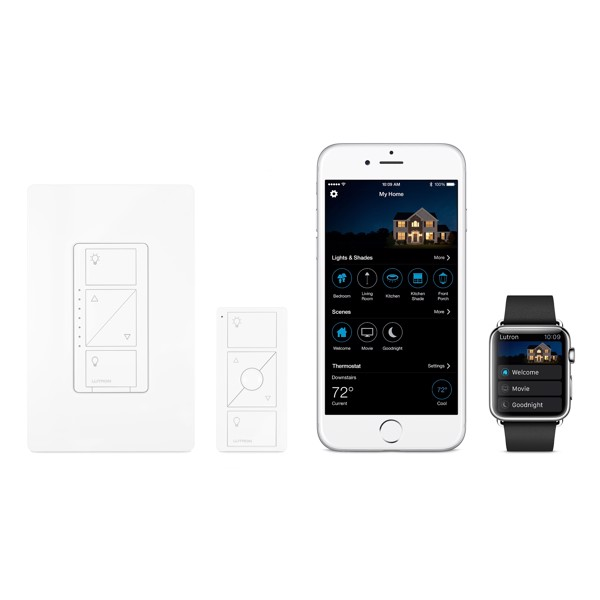 Lutron Caséta Wireless In-Wall Light Dimmer with Remote