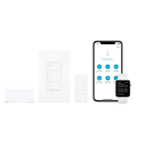 Lutron Caséta Wireless Smart Lighting Dimmer Switch Starter Kit