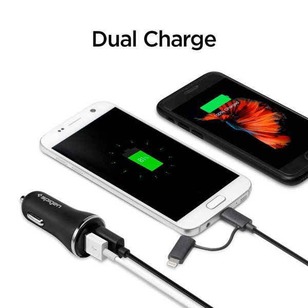 Spigen Qualcomm Quick Charge 3.0 Car Charger