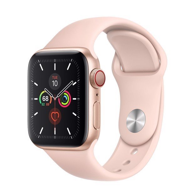 Apple Watch Series 5 LTE 40mm Gold Aluminum Case with Pink Sand Sport Band