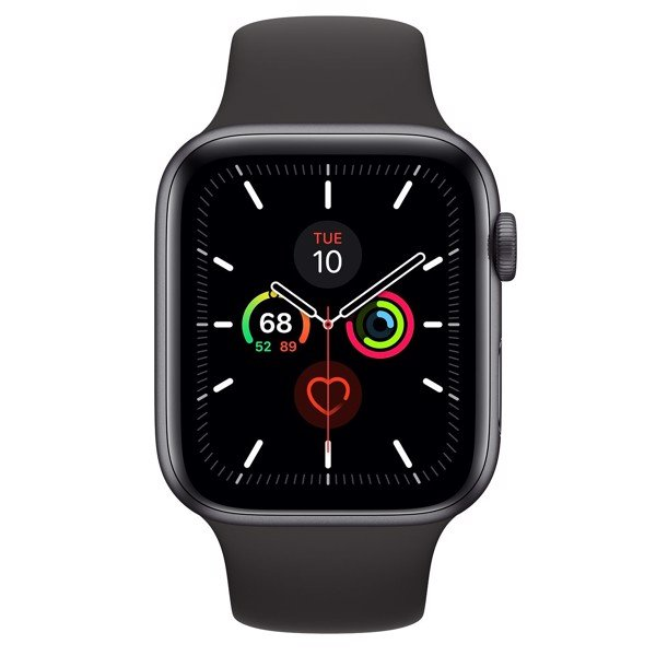 Apple Watch Series 5 LTE 44mm Space Grey Aluminium Case with Black Sport Band