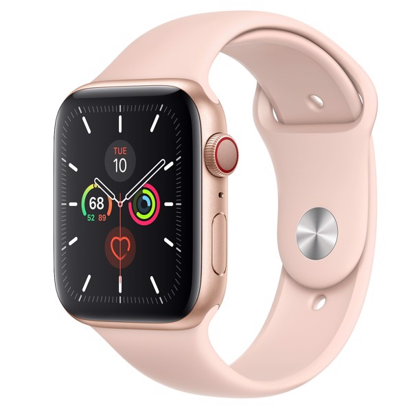 Apple Watch Series 5 LTE 44mm Gold Aluminium Case with Pink Sand Sport Band