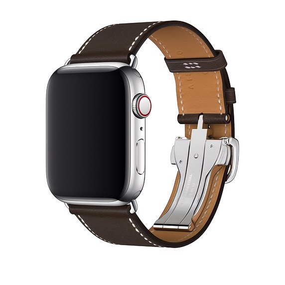 Apple Watch Hermès - 44mm Ébène Barénia Leather Single Tour Deployment Buckle