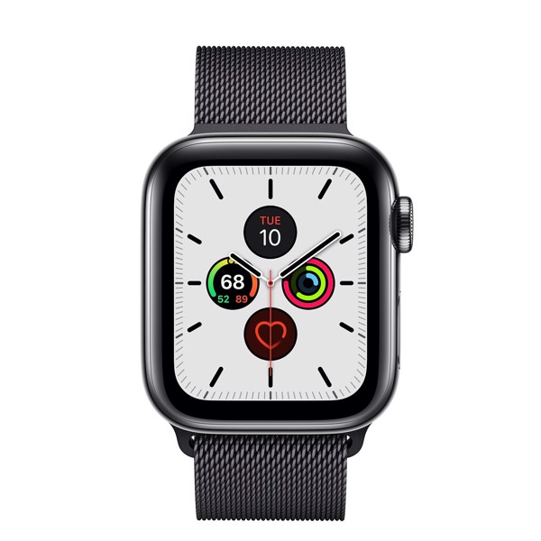 Apple Watch Series 5 40mm Space Black Stainless Steel Case with Space Black Milanese Loop