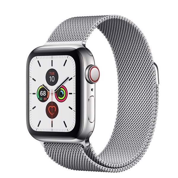 Apple Watch Series 5 40mm Stainless Steel Case with Milanese Loop