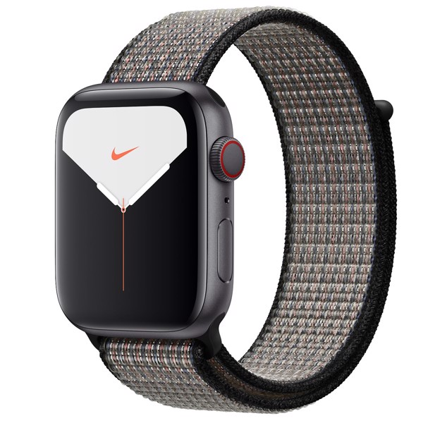 Apple Watch Series 5 Nike LTE 44mm, Space Gray Aluminum with Nike Sport Loop