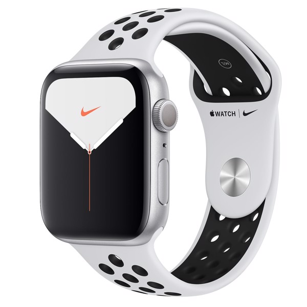 Apple Watch Nike Series 5 GPS 44mm Silver Aluminium Case with Nike Sport Band