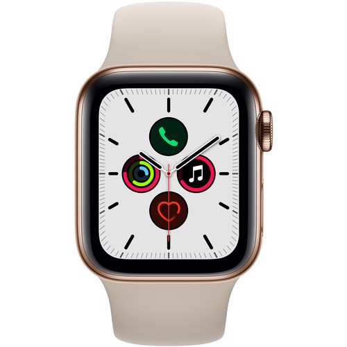 Apple Watch Series 5 40mm Gold Stainless Steel Case with Stone Sport Band