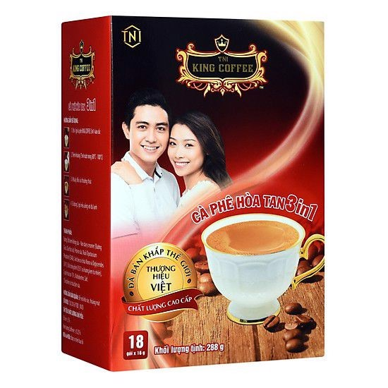Cà Phê Hòa Tan 3in1 TNI King Coffee 288g