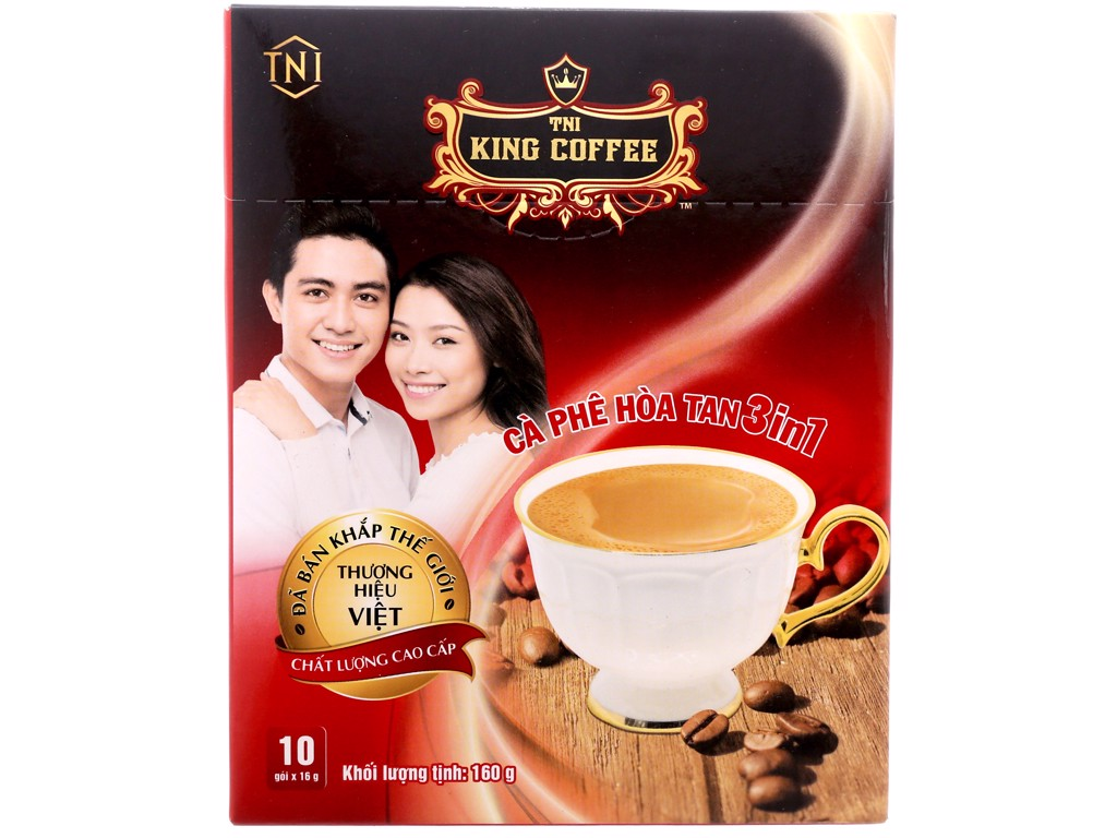 Cà phê King coffee hòa tan 3in1 - Hộp 10 sticks