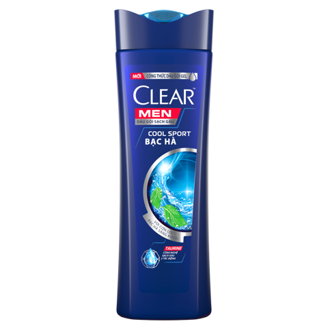 Dầu gội Clear Men 3in1 340g