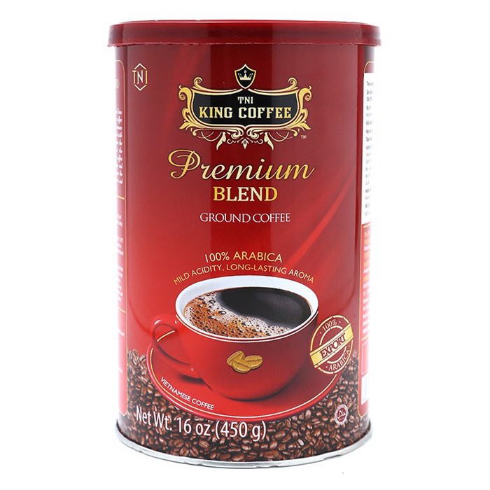 Cà phê King coffee Premium Blend - Can 450gr