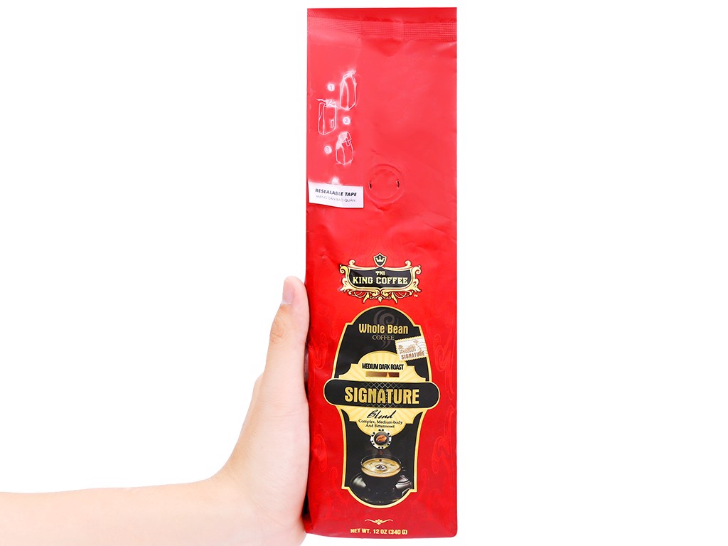 Cà phê KING COFFEE Signature Blend Whole Bean Coffee 340g (E/E)