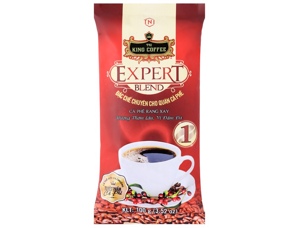 Cà phê King coffee Expert Blend 1 Whole Bean _ Túi 1000gr_E/V