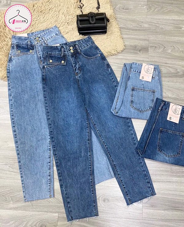 Quần jeans baggy ống rộng