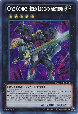 NUMH-EN042 - CXyz Comics Hero Legend Arthur - Secret Rare