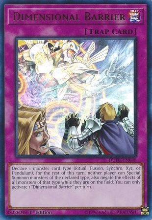 DUDE-EN048 - Dimensional Barrier - Ultra Rare