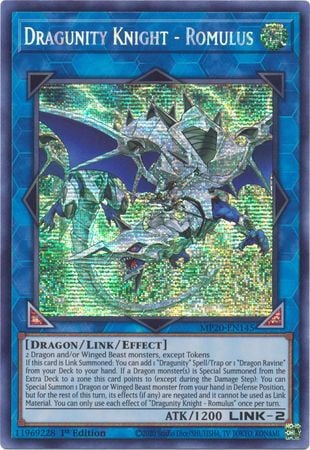 MP20-EN145 - Dragunity Knight - Romulus - Prismatic Secret Rare