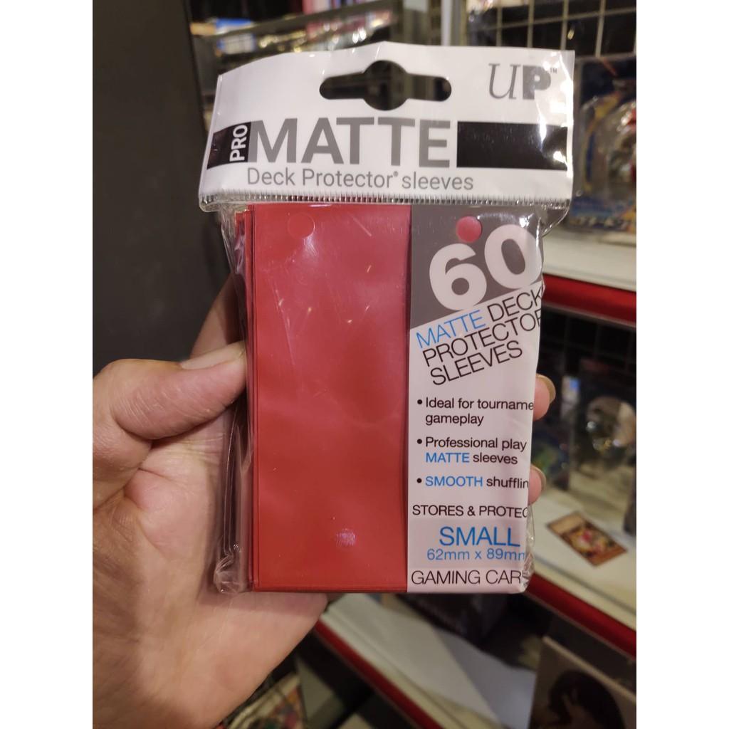 Bọc Bài Sleeve Ultra Pro Matte Dành Cho Yugioh, Vanguard - Chính Hãng Ultra PRO USA - 60 Cái - Đỏ