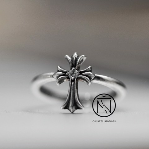 Chrome hearts Bubblegum Cross Ring with diamond