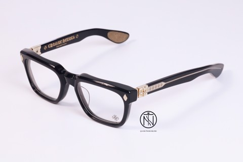 Kính Chrome Hearts Daffaldo black gold plate
