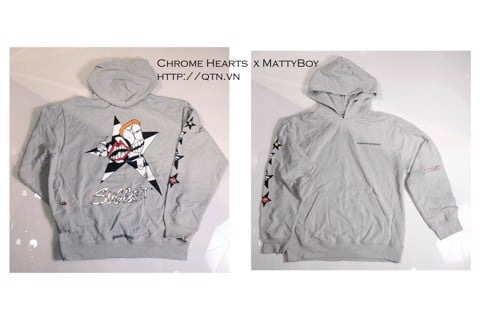 áo khoác hoodie Chrome Hearts Matty Boy Grey
