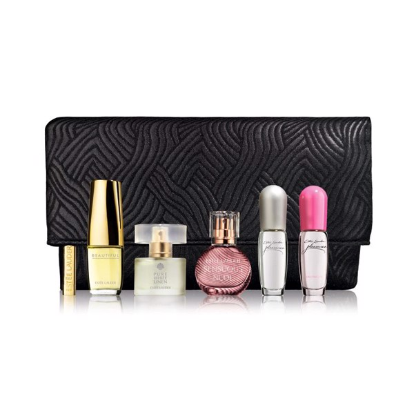 Bộ Nước hoa Estee Lauder Purse Spray Collection Gift Set with Cosmetic Bag 5 chai